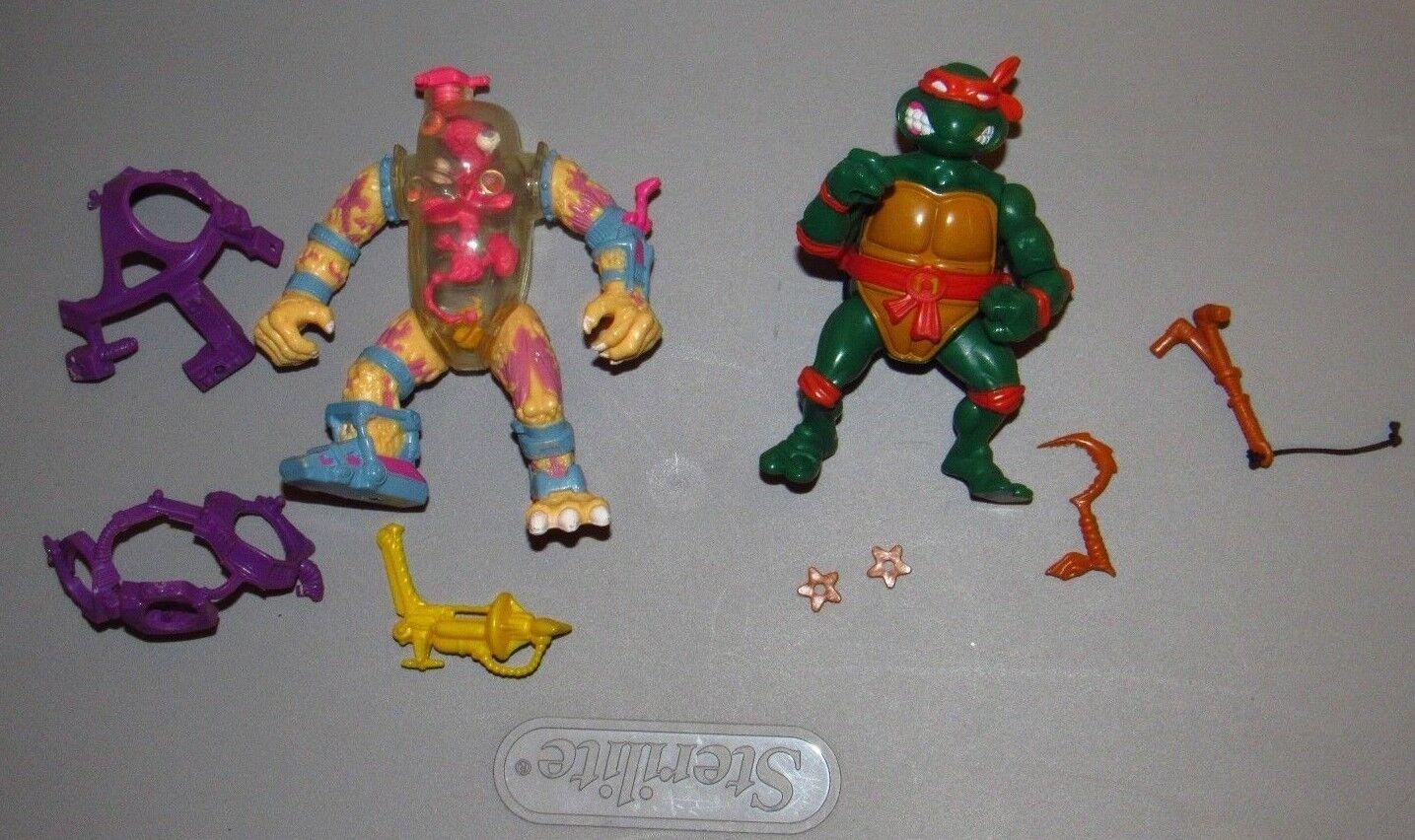 Teenage Mutant Ninja Turtles   Storage Shell Mike Mutagen Man Figure lot