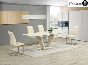 CONTEMPORARY-EXTENDING-CREAM-HIGH-GLOSS-DINING-TABLE-AND-CHAIRS-OPTION