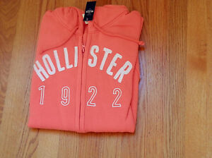 NWT-Hollister-Emerald-Cove-Hoodie-Red-or-Orange-M-or-L-by-Abercrombie