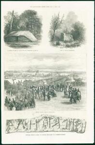 1874-Antique-Print-AUSTRALIA-Queensland-Victoria-Bridge-MAURITIUS-Tomb-108