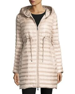 6d6e06776 Details about Moncler Barbel Long Hooded Down Lightweight Packable Jacket -  Natural - Size 1