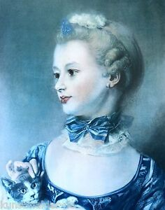 Jean-Baptiste-PERRONNEAU-1715-1783-Original-MOURLOT-Lithographie-Huquier