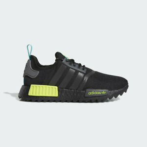 NEW-170-adidas-Men-039-s-NMD-R1-TRAIL-SHOES-CORE-BLACK-REAL-BLUE-FV2466