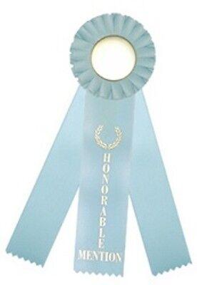 Honorable Mention Triple Streamer Rosette Award Ribbons 3x10