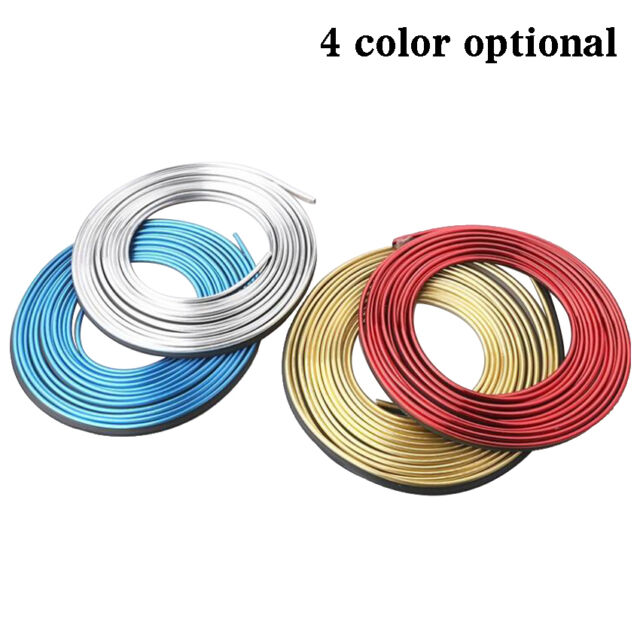 5M Car Styling Interior 3D Thread Stickers Decoration Strip on Auto Accessories