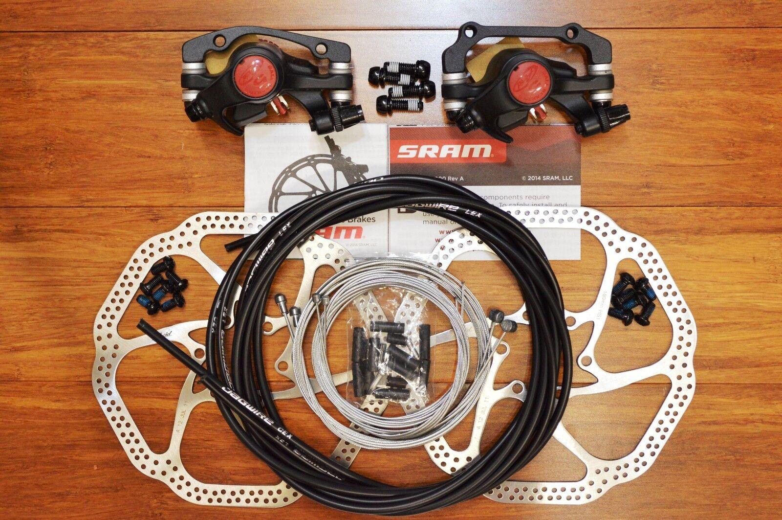 Avid BB5 Disc Brake+Avid Heat Shedding HS1 redors+OEM Jagwire Kit--Mountain Bike