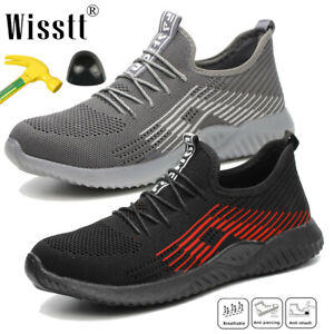 UK STYLE MENS WOMENS SHOES LIGHTWEIGHT STEEL TOE CAP WORK SAFETY TRAINERS BOOTS