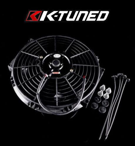 "K-Tuned 12/"" Slim Fan w// Install Mounting Kit for K-Tuned Radiators /& OEM 92-00"