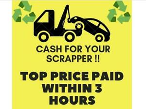 OSHAWA SCRAP CARS /WE PAY THE BEST PRICE $250-$8000 FOR SCRAP CARS & USED UNWANTED CARS SCRAP CAR REMOVAL TOWING FREE Oshawa / Durham Region Toronto (GTA) Preview