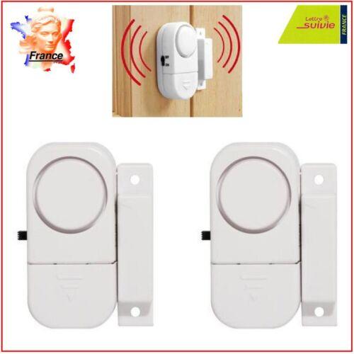 2 X Alarme Porte Fenêtre Maison Caravane Garage Autonome Sans Fil