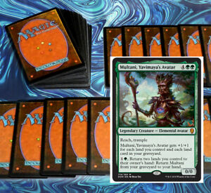 mtg-GREEN-MULTANI-COMMANDER-EDH-DECK-Magic-the-Gathering-nissa-courser-rares