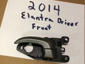 2014 Hyundai Elantra Used Driver's Side Front Door Handle Black w/ Gray Lever