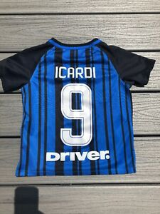 cheap for discount eeb24 f39ac Details about Nike Boy's Sz M 5-6 years Authentic Inter-Milan #9 Icardi  Football/Soccer Jersey