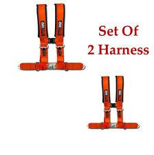 2 qty 4 Point Orange Hunting Safety Harness Polaris RZR 800 Crew XP1000 RZR4 900