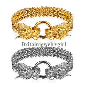 Gothic-Biker-Stainless-Steel-Dragon-Head-Franco-Link-Curb-Chain-Bracelet-for-Men