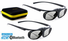 2x Hi-SHOCK 3D Brille BT Pro Black Heaven für Bluetooth TV Sony, Samsung, Sharp