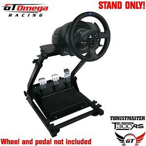 gt omega steering wheel stand pro for thrustmaster t300 rs racing wheel ps4 pc ebay. Black Bedroom Furniture Sets. Home Design Ideas