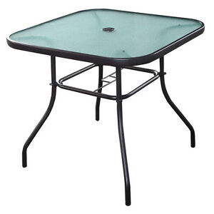 32 1 2 patio square bar dining table glass deck outdoor