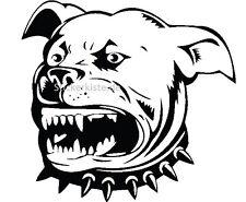 2 Aufkleber Pitbull Terrier Zähne Auto Sticker Decal 17 cm Tuning JDM