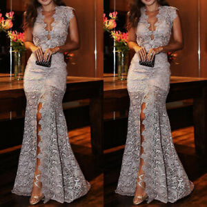 Women-Lace-Slim-Maxi-Long-Dress-Bridesmaid-Evening-Party-Cocktail-Prom-Ball-Gown