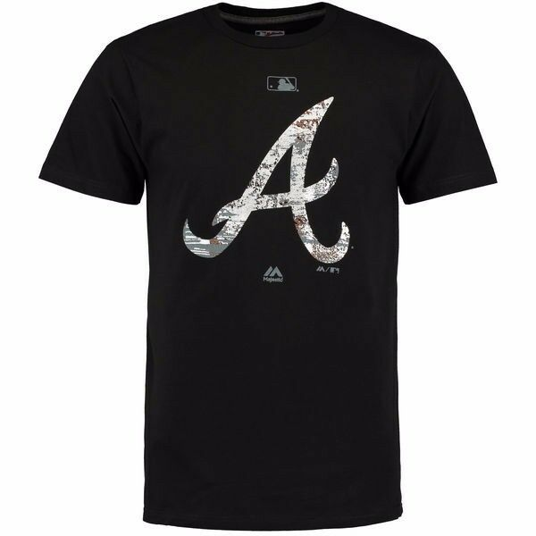 MLB Baseball T-Shirt ATLANTA BRAVES Clubhouse Clubhouse Clubhouse Fashion Authentic Collection 90187e