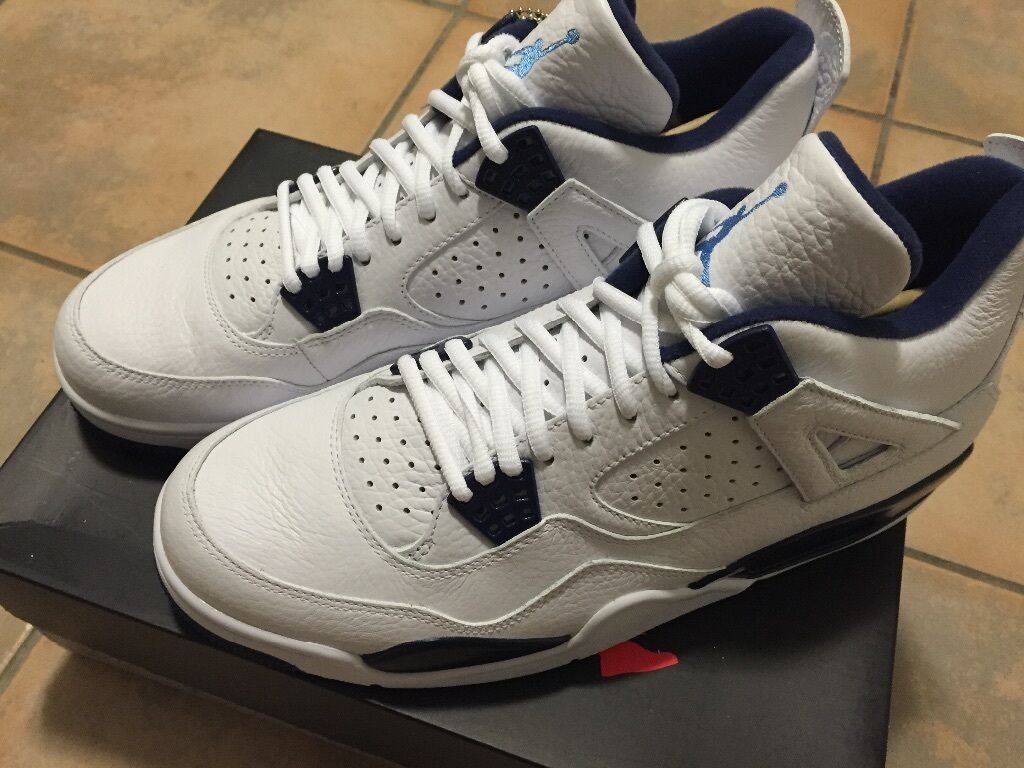 Brand New w/ Box Nike Air Jordan Retro 4 Columbia Legend Blue Size 10