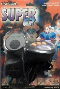 Super-CP-Capcom-Controller-Genesis-Great-Condition-Fast-Shipping