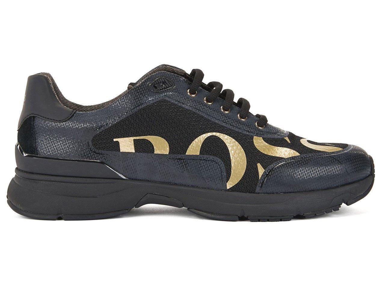 Homme Hugo Boss Vélocité courirn Logo2 50397613 001 paniers Chaussures Noires