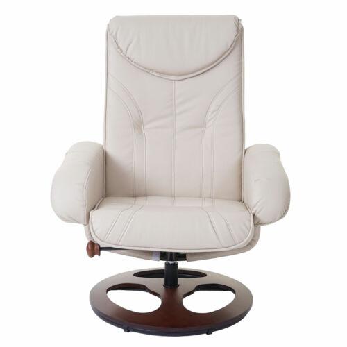 Relaxsessel HWC-C46 Fernsehsessel Sessel mit Hocker Kunstleder