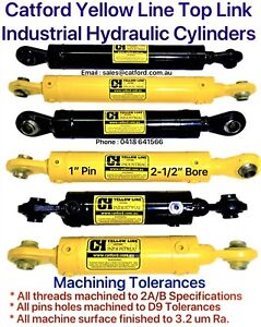 Catford-Yellow-Line-Hydraulic-Top-Link-Cylinders-Rams