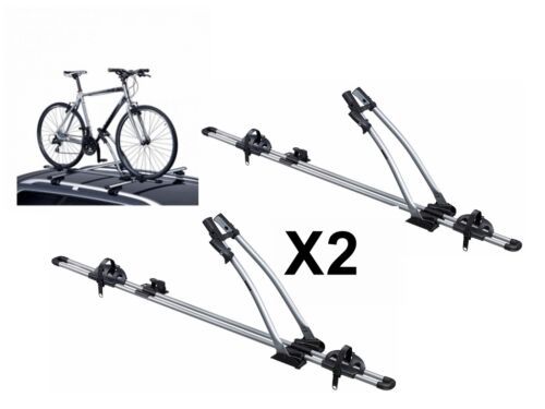 2 x THULE FREERIDE 532 ROOF MOUNTED CYCLE CARRIERS BIKE FITS BMW 3 SERIES