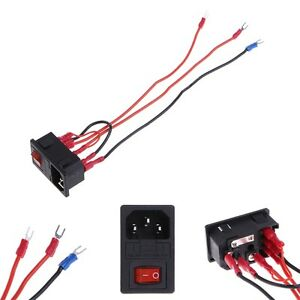 220V-110V-15A-Inlet-Male-Power-Plug-Socket-With-Fuse-Switch-3D-Printer-Parts