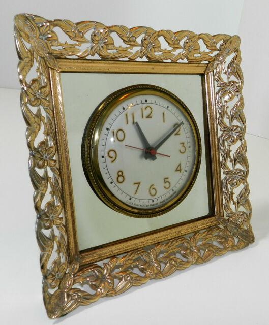 Vintage Ornate Electric Clock Gilbert