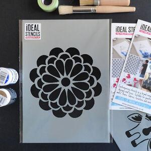 Bold-Flor-pagina-de-inicio-la-plantilla-pintura-decorativa-Paredes-Tela-Muebles