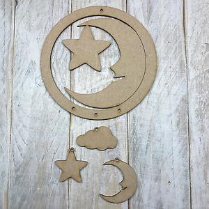 Mdf Wood Dream Catcher Make Your Own Dreamcatcher Wooden Moon Star