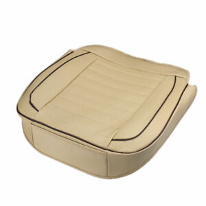 Car-Seat-Cover-PU-Leather-Breathable-Soft-Auto-Front-Chair-Cushion-Pad-Mat-Beige