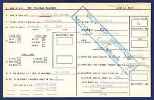 1945 Pullman Company Employee Selective Service Card Joe Brown Counts Ebay