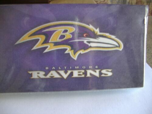 Baltimore Ravens vinyl Checkbook cover
