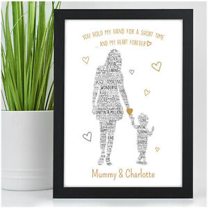 PERSONALISED-Mum-Mummy-and-Son-Daughter-Print-Birthday-Gifts-for-Mum-Nanny-Mom