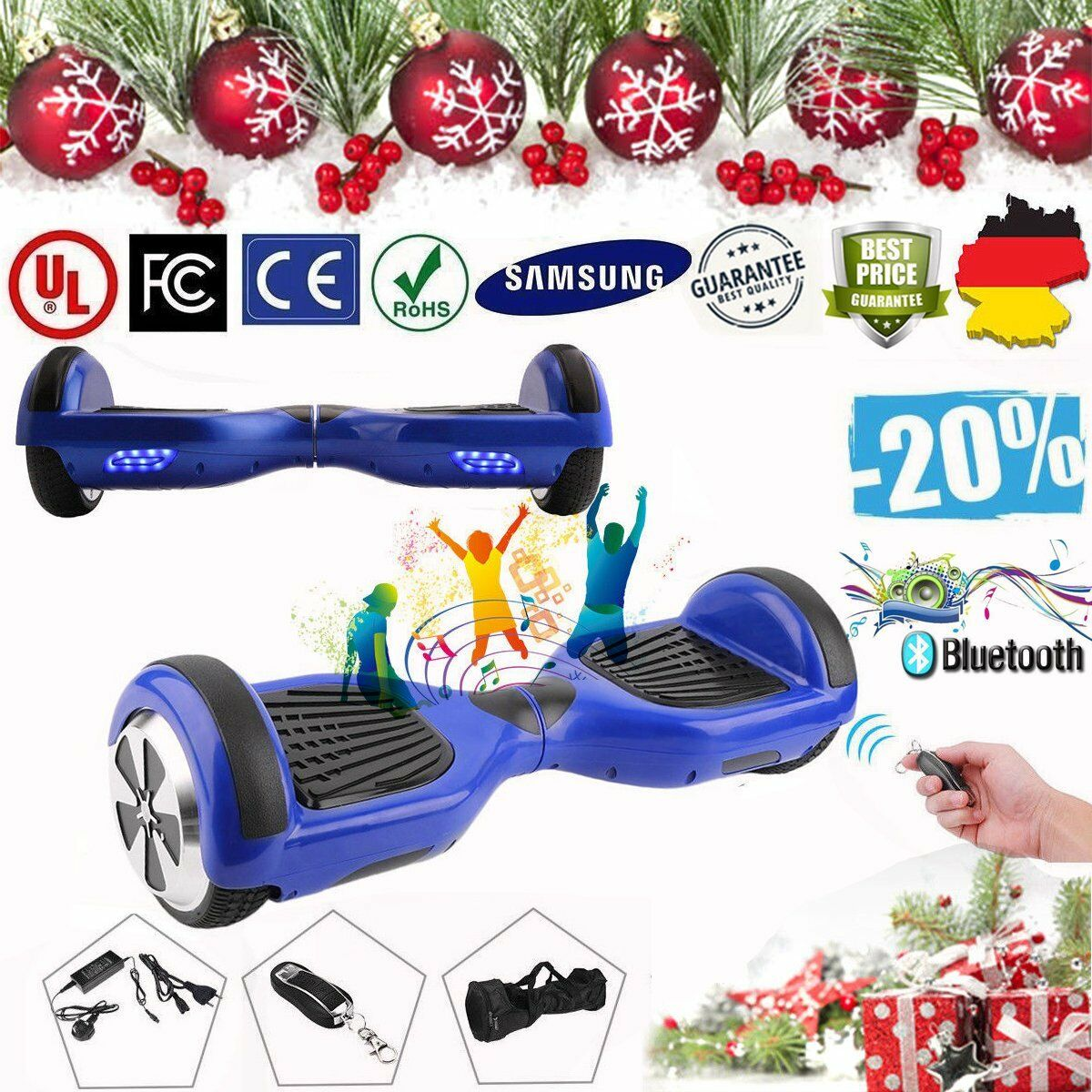 6 5    Blautooth Skateboard Self Balance Scooter Smart Hoverboard Sumsung-Akku ffe264
