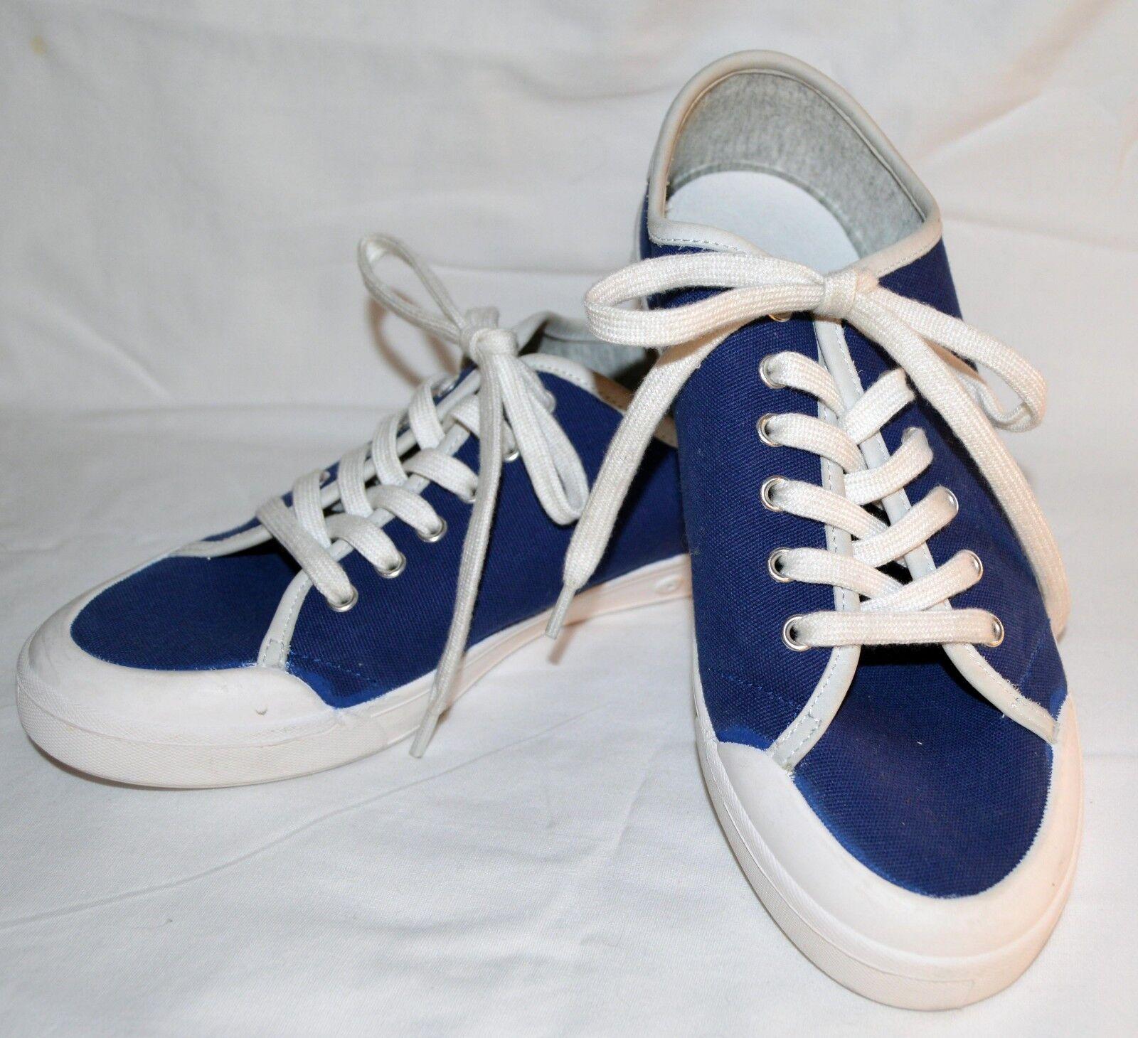 Rag &Bone'Lace Up 'Cobalt blu Canvas Cap Toe scarpe  da ginnastica Dimensione US 10 (40 UE)  a buon mercato