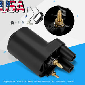 Ignition-Coil-W-Accessories-Replaces-for-Points-Models-BF-B43-B48-ONAN-166-0772