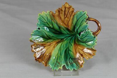 Kleine Jugendstil Keramik Schale In Form Eines Blattes - Ca. 15x14 Cm ~1910 Fortgeschrittene Technologie üBernehmen
