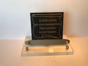 épitaphe Noir & Or Support Altuglas Transparent Rectangle Plaque Funéraire Texte Grkkkwcx-10042255-761553731