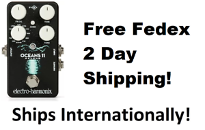 New-Electro-Harmonix-EHX-Oceans-11-Reverb-Guitar-Effects-Pedal