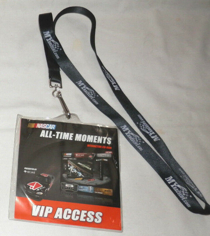 NASCAR ALL-TIME MOMENTS INTERACTIVE CD-ROM VIP ACCESS W  MY RACELIFE.COM LANYARD