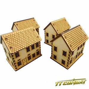 TTCombat-World-War-Scenics-Townhouse-Set-great-for-Flames-of-War-TANKS