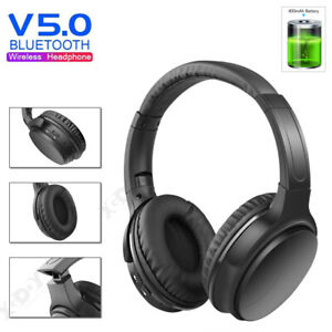 kabellose kopfh rer bluetooth headset noise cancelling stereo over ear kopfh rer ebay. Black Bedroom Furniture Sets. Home Design Ideas
