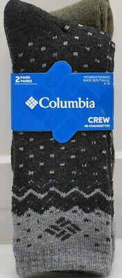 2 packs of 2 Green /& Navy Size 4-10 New Women/'s Columbia Socks
