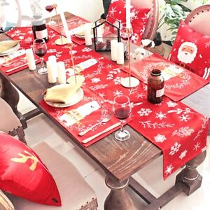 Christmas-Table-Flag-Xmas-Table-Runner-Tablecloth-Dining-Place-Mat-Home-Decor